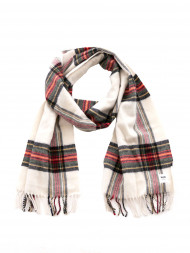 WOOD WOOD / Karlo scarf off white check
