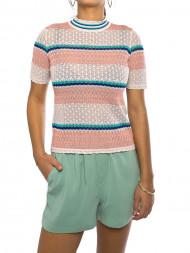 ROCKAMORA / Rho shirt knit rose stripe