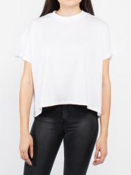 / Overlap turtleneck t-shirt white