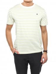 WOOD WOOD / Ace t-shirt striped off wht/ mint