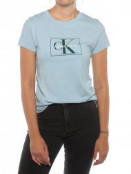 CALVIN KLEIN / Outline monogram shirt lt blue