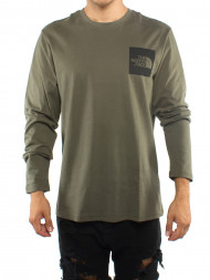 The North Face / Fine ls tee green