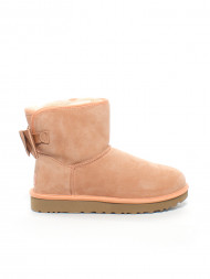 UGG / Satin bow mini boot suntan
