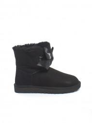 mou / Gita bow mini boot black