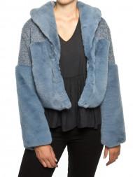 VANS / Carla fakefur jacket dustyblue