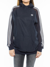 mbym / 3 Stripes long hoodie legend ink