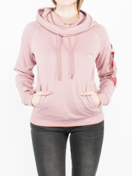 ALPHA INDUSTRIES / X-fit hoody silver pink