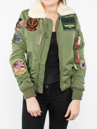 ALPHA INDUSTRIES / Injector III bomber jacket sage green