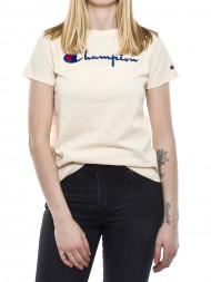 Champion / Crewneck t-shirt big logo rose