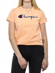 TOMMY HILFIGER / Crewneck t-shirt big logo peach