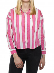 SAMSØE & SAMSØE / Cropped boxy shirt pink multi