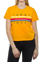 TOMMY HILFIGER / Multicolor line t-shirt yellow
