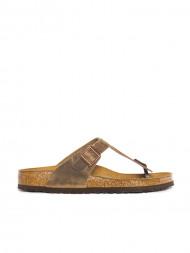 BIRKENSTOCK / Gizeh sandals tabacco brown