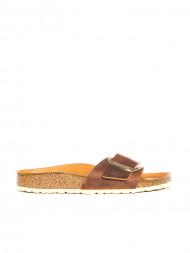 BIRKENSTOCK / Madrid big buckle sandals cognac
