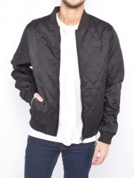 SAMSØE & SAMSØE / Diamond quilt bomber jacket black