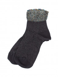 HappySocks / Christmas lace socks black