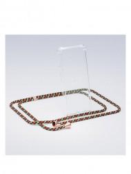 / iPhone necklace X camo copper