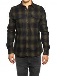 LES DEUX  / Bryson wool check black green