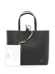 CALVIN KLEIN / Reversible shopper bag black/white