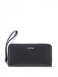 / Edit large ziparound wallet black