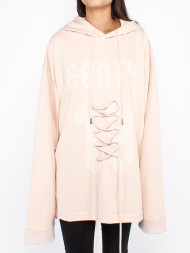 PUMA / Graphic lacing hoody cameo rose