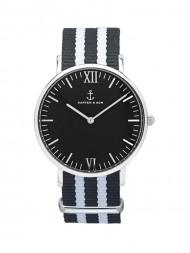 KAPTEN & SON / Campus nylon watch black silver