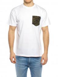 ROCKAMORA / Lester pocket t-shirt white