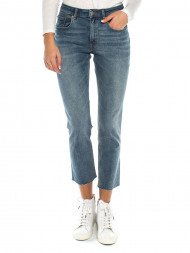 Levi's / Mom Jeans slim straight tainted blue