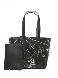 CALVIN KLEIN / Inside out medium shopper black