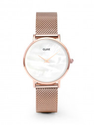 CLUSE / Minuit watch mesh rosé white pearl