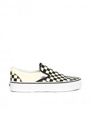 SUPERGA / Classic slip on sneaker blk wht check