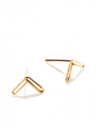 by boe / Angle earring gold