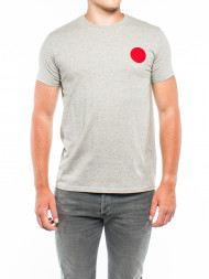 EDWIN / Red dot t-shirt grey marl