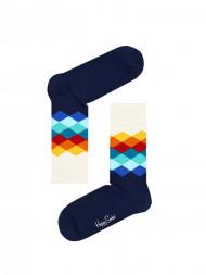 HappySocks / Faded diamond socks navy