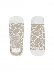 HappySocks / Giraffe liner socks creme