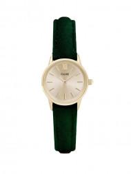 / La vedette velvet watch gold green