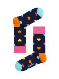 HappySocks / Hearts socks navy multi coloured