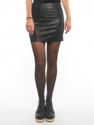 SisterS point / Rebel leather skirt black