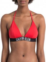 CALVIN KLEIN / Fixed triangle bikini top red