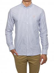 LES DEUX  / Oliver oxford shirt str dk navy