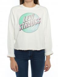 ROCKAMORA / Graphic crew sweater logo white