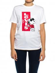 adidas / Logo t-shirt snoopy cool white