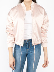 mbym / Satin kimono blouson light pink