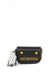LOVE MOSCHINO / Scarf crossbody bag nero
