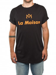 SAMSØE & SAMSØE / La maison t-shirt logo t black