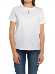 NA-KD / Chest rose t-shirt white blue