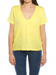 / V-neck t-shirt yellow