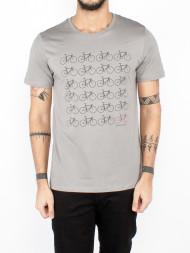 ARMEDANGELS / James bike print shirt neutral grey