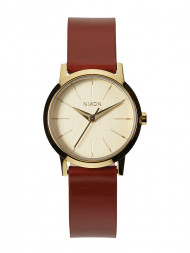 NIXON / Kenzi watch leather gold saddle