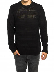 Norse Projects / Basket knit pullover black
